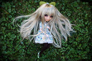 Wallpaper Doll Little girls Blonde girl Hair