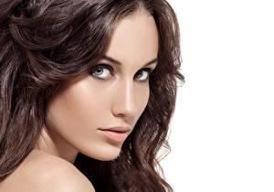 Hintergrundbilder Gesicht Model Haar Braunhaarige Hübsch Blick junge Frauen