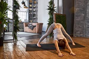 Hintergrundbilder Fitness Braunhaarige Körperliche Aktivität Hand Mädchens