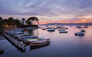Hintergrundbilder Frankreich Schiffsanleger Haus Abend Boot Bucht Mediterranean Beach Städte