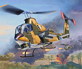 Pictures Helicopter Painting Art American military