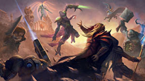 Picture Heroes of the Storm Diablo 3 StarCraft World of WarCraft Fighting Warrior Demon Tyrael, Archangel of Justice, Kael'thas, The Sun King vdeo game Fantasy