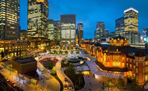 Fondos de Pantalla Japón Tokio Casa Noche Ciudades