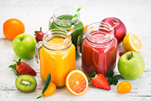 Photo Juice Fruit Apples Citrus Strawberry Chinese gooseberry Highball glass Food