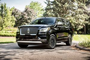 Bilder Lincoln Luxus Schwarz Metallisch 2018 Navigator L Black Label Autos