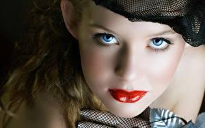 Hintergrundbilder Lippe Augen Gesicht Schminke Starren junge Frauen