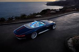 Wallpapers Mercedes-Benz Luxurious Blue Convertible 2017 Vision Mercedes-Maybach 6 Cabriolet
