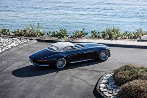 Pictures Mercedes-Benz Expensive Blue Convertible 2017 Vision Mercedes-Maybach 6 Cabriolet Cars