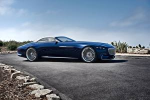 Pictures Mercedes-Benz Luxurious Blue Side Cabriolet 2017 Vision Mercedes-Maybach 6 Cabriolet
