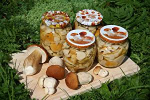 Image Mushrooms Jar Food