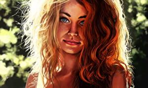 Bilder Gezeichnet Rotschopf Haar Mädchens