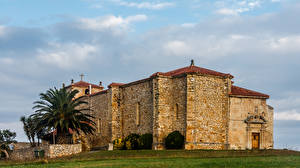 Images Spain Temples Made of stone Cantabria Cities