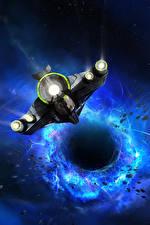Pictures Starship Black hole Fantasy