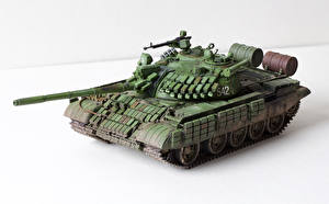 Photo Tanks Toy Russian White background T-55 AMV Army