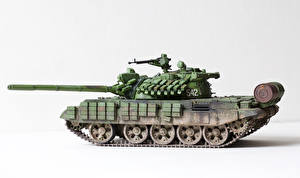 Pictures Tanks Toys White background Russian T-55 AMV military