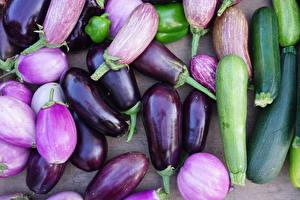 Fotos Gemüse Großansicht Aubergine Lebensmittel