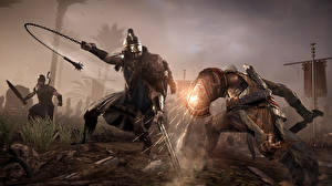 Wallpapers Warriors Fighting Assassin's Creed Origins vdeo game 3D_Graphics