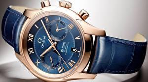 Fotos Uhr Armbanduhr Hautnah Zifferblatt omega, de ville