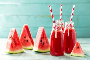 Pictures Watermelons Drinks Piece Jar Food