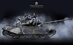 Sfondi desktop World of Tanks Carri armati Uomini Strv 81, Sabaton, Primo Victoria