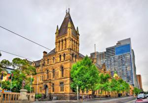 Fondos de escritorio Australia Melbourne Casa Calle árboles HDRI