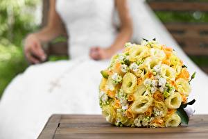 Photo Bouquets Marriage Yellow Flowers