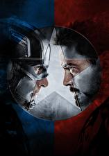 Pictures Captain America: Civil War Captain America hero Iron Man hero Heroes comics Two