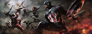 Fotos The First Avenger: Civil War Iron Man Held Captain America Held Comic-Helden Schlägerei Steve Rogers Film Prominente