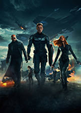 Wallpapers Captain America: The Winter Soldier Captain America hero Superheroes Scarlett Johansson Chris Evans Shield Black Widow film Celebrities