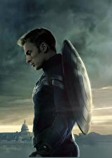 Desktop wallpapers Captain America: The Winter Soldier Captain America hero Heroes comics Chris Evans Man Shield film Celebrities