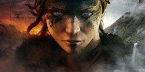 Fondos de escritorio De cerca Hellblade: Senua's Sacrifice Cara Contacto visual Juegos