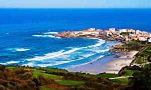 Bilder Küste Meer Spanien Galicia Natur Städte