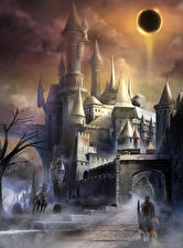 Bakgrundsbilder på skrivbordet Dark Souls Borg Krigare 3 Datorspel Fantasy
