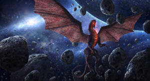 Picture Dragons Stone Wings Chris Fox, Planet Strider Fantasy Space