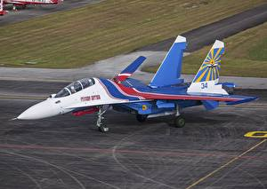 Fotos Flugzeuge Jagdflugzeug Soukhoï Su-30 Russische Luftfahrt
