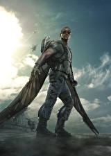 Pictures Heroes comics Captain America: The Winter Soldier Wings Falcon. Samuel Wilson