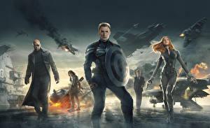 Image Superheroes Captain America hero Chris Evans Captain America: The Winter Soldier Shield Steve Rogers Movies Celebrities Girls