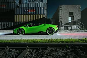 Image Lamborghini Side Green 2016 Novitec Torado Huracan LP 610-4 Spyder Cars