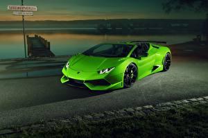 Fotos Lamborghini Gelbgrüne Cabrio Metallisch 2017 Novitec Torado Huracan LP 610-4 N-Largo