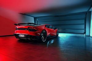 Hintergrundbilder Lamborghini Hinten Rot Garage Novitec Torado, Huracan Autos