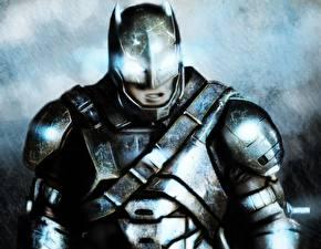 Desktop wallpapers Painting Art Batman hero Batman v Superman: Dawn of Justice Heroes comics Armour Movies