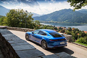 Fotos Porsche Hinten Blau 2016 Panamera Turbo Autos