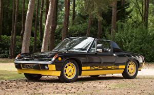 Hintergrundbilder Porsche Antik Fahrzeugtuning Schwarz Cabrio Roadster 1974 914 Limited Edition
