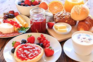 Bilder Powidl Butterbrot Käse Obst Erdbeeren Meertrübeli Frühstück Weckglas Öle