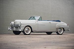 Pictures Antique White Convertible 1949 DeSoto Custom Convertible Cars