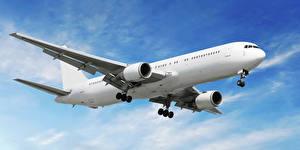Bilder Himmel Flugzeuge Verkehrsflugzeug Flug Luftfahrt