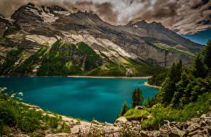 Bilder Schweiz Gebirge See Landschaftsfotografie Kanton Bern