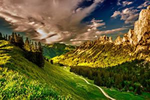 Hintergrundbilder Schweiz Landschaftsfotografie Gebirge Wälder Himmel Alpen Gras Wolke Kanton Freiburg