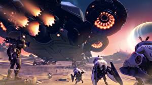 Bilder Technik Fantasy Battleborn Roboter Spiele 3D-Grafik Fantasy