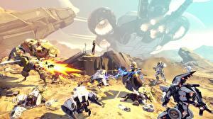 Pictures Warrior Battleborn Robot Firing Games 3D_Graphics